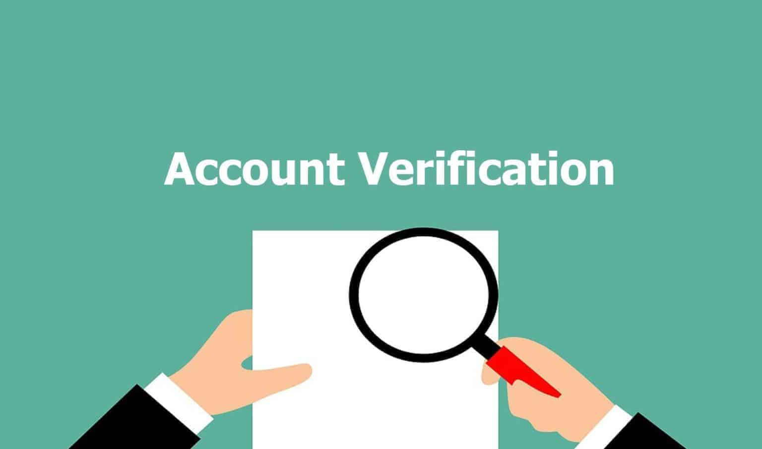 Verification of Account